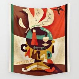 1934 Manifesto Cordial Campari Aperitif Advertisement Poster Wall Tapestry