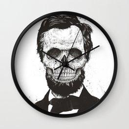 Dead Lincoln (b&w) Wall Clock