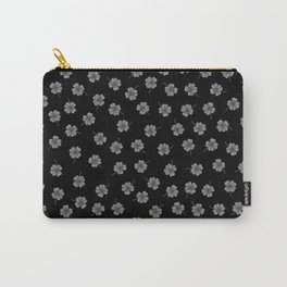 Dark Gray Clover Carry-All Pouch