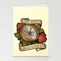 compass Stationery Cards featuring Compass by hvelge