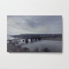 Arkansas River Bridge Metal Print