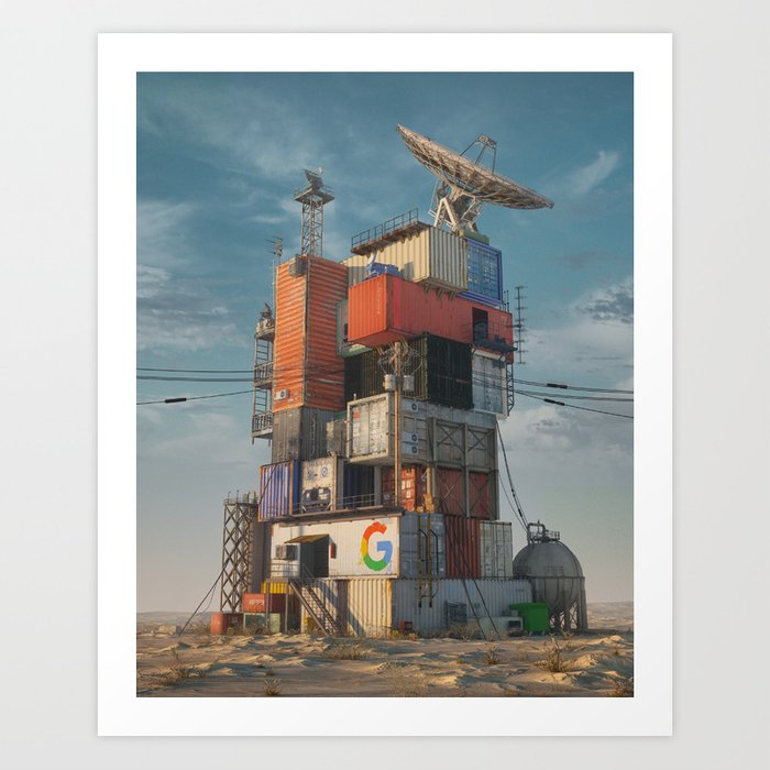 GOOGLE DATA CENTER 2079 (everyday 11.30.17) Art Print