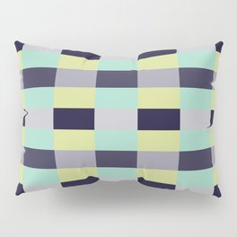 soft color shades minimalist tartan geometric pattern Pillow Sham