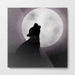 Howling at the moon Metal Print