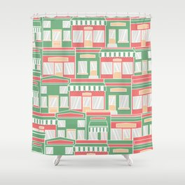 Pattern with colorful houses Shower Curtain