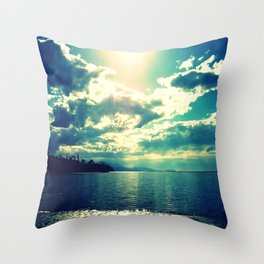 Sunny Day at the Bay Throw Pillow