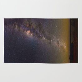 Milky Way Galaxy Star Night Sky Night Time Rug
