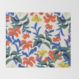 Vintage Floral Pattern Throw Blanket