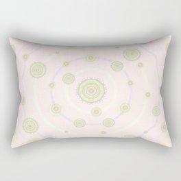 baby art mandala flower-pastel colors-healing-nursery art-hand painted-sweetness and love Rectangular Pillow