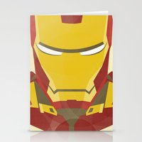iron man Stationery Cards featuring IRON MAN by LindseyCowley
