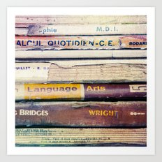 Vintage School Books Art Print
