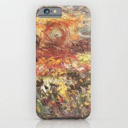 Kida Kinjiro - Rapeseed Flowers and Evening Sun (1958) iPhone Case