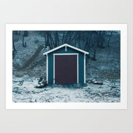 A Jagged Gorgeous Winter Art Print