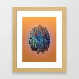 Buble Lab Robotics Space Framed Art Print