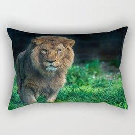 Majestic Male Lion Rectangular Pillow