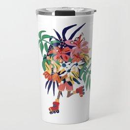 Floral Roller Babe Travel Mug