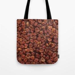 Cornelian cherries. Background. Tote Bag
