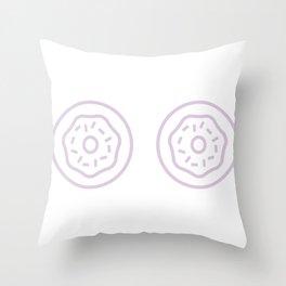 Donut Boobs Throw Pillow