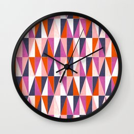 a harlequin party in pink! Wall Clock