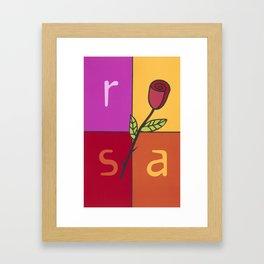 La Rosa (The Rose) Framed Art Print