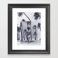Tropical Storm in Purple Framed Art Print