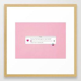 Copying heart Framed Art Print