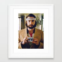 tenenbaum Framed Art Prints featuring Richie Tenenbaum by VAGABOND