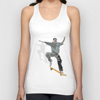 skateboard Tank Tops featuring Skateboard 2 by Aquamarine Studio