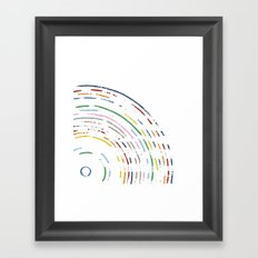 Rainbow Part Disc Framed Art Print