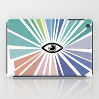 all seeing eye iPad Cases featuring All seeing eye  by Nobra