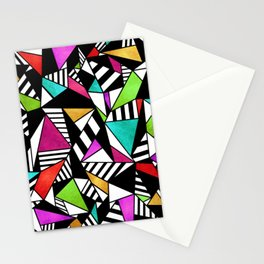 Geometric Multicolored Stationery Cards