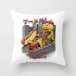 hotdog vs hambuger Throw Pillow