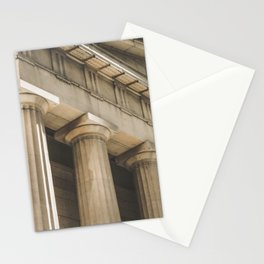 Federal Hall, New York photography, architecture, building, Hasselblad, Fine art Stationery Cards