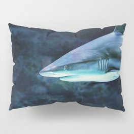 Gray Shark Head (Color) Pillow Sham