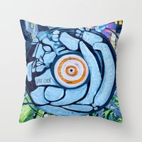 legs Throw Pillows featuring Legs by Jade Cohen