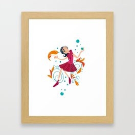 Hippe Girl Framed Art Print