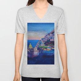 Amazing Amalfi Coast at Sunset in Italy Unisex V-Neck