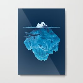 In the deep (iceberg) Metal Print