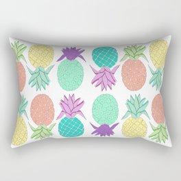 pineapple white Rectangular Pillow