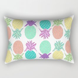 pineapple tropical colors white background Rectangular Pillow