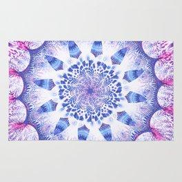 Mandala Flower Violet Art Rug