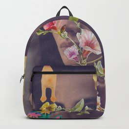 Woman, Roses & Chicken Backpack