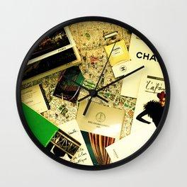 Weekend in Paris Wall Clock