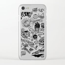 3am Thoughts Club Clear iPhone Case