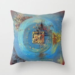 Of the Earth 4 by Nadia J Art Throw Pillow