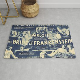 Bride of Frankenstein, vintage horror movie poster Rug