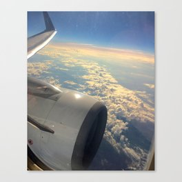 Sun And Clouds From Plane Canvas Print