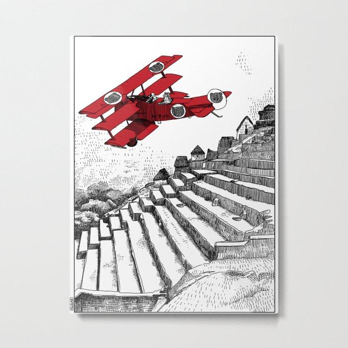 asc 114 - Le Baron Rouge & son ours Darwin (La montagne où tombent les étoiles) Metal Print