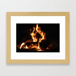 Warm me up Framed Art Print