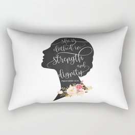 She is Clothed in Strength and Dignity Rectangular Pillow